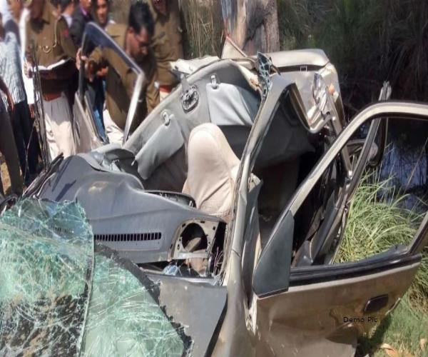 painful incident  life of 4 people took high speed