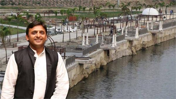 gomti river front scandal 8 officers lodged fir