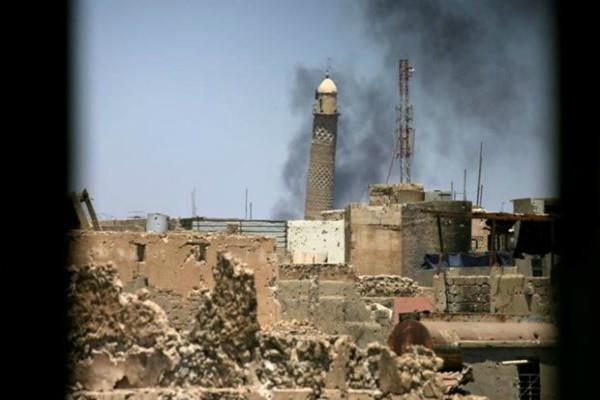 isis blows up 800 years old mosul mosque where abu bakr al baghdadi