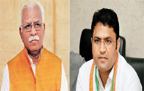 khattar targets congress in kurukshetra