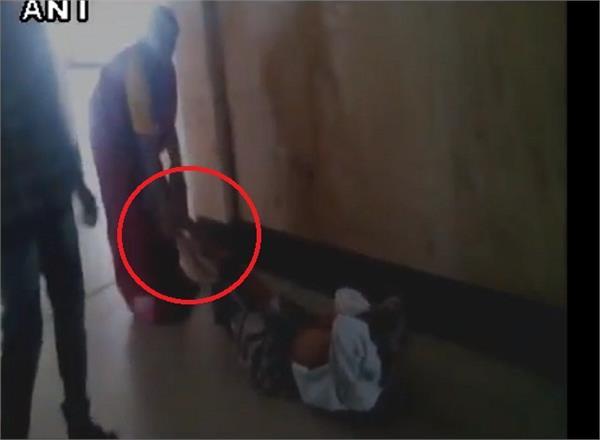 karnataka wife drags husband to get x ray done