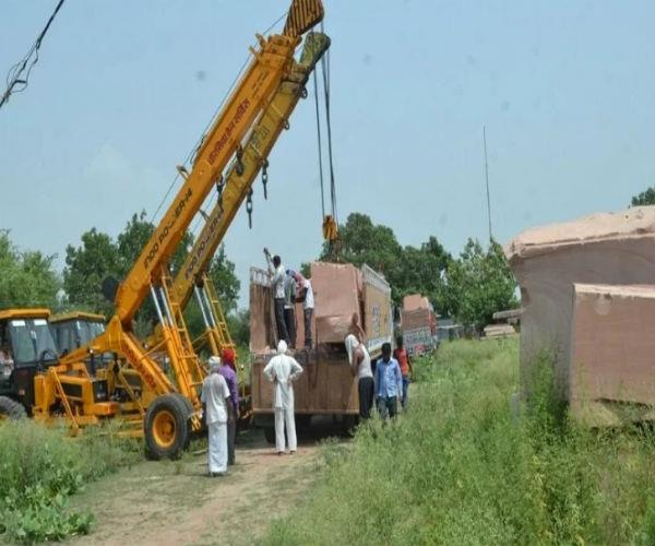 2 truck stones arrived at ayodhya for ram temple  what is going to start