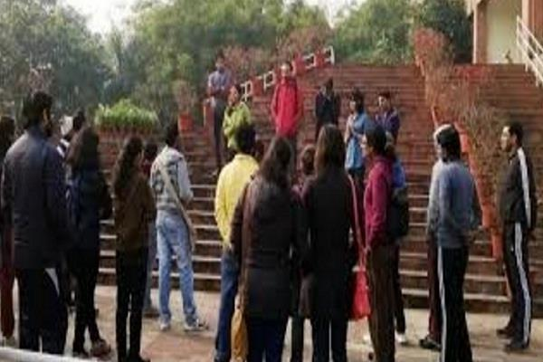 scramble with abvp students in jnu