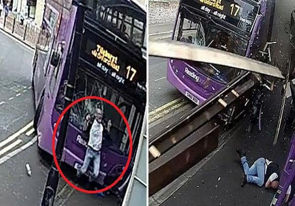 bus crashes into simon smith