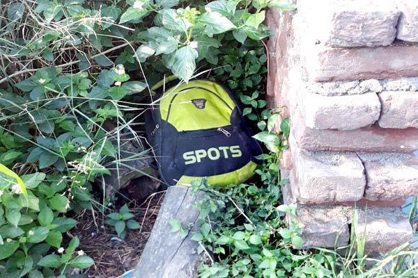 unknown bag found in bushes  flew senses of police when the investigation