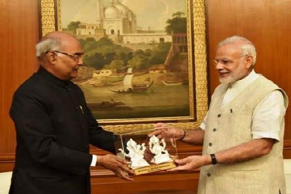 pm modi tweeted about the kovind