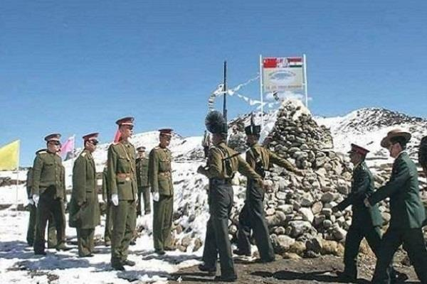chinese soldiers intruding into indian territory two devastated bunkers