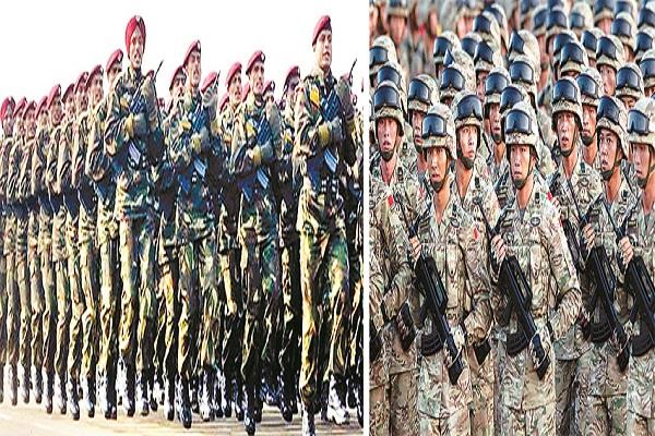 look at the chinese army with satellites