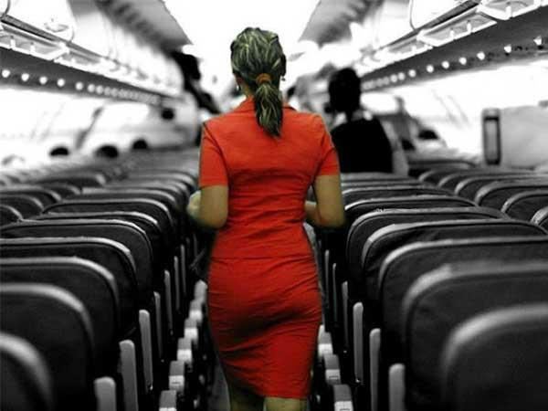 man booked lewd gestures to air hostess