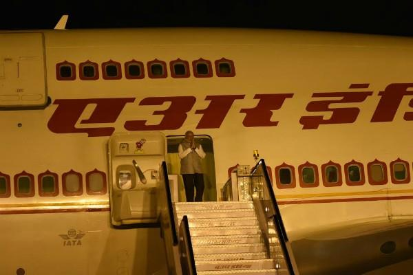 pm modi returned home late in the night to travel to israel and germany