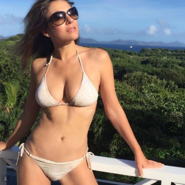 elizabeth hurley in bold look