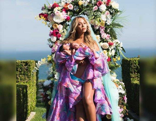 beyoncé shared his twins picture