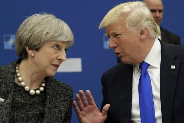 trump  asked may to   fix   a warm welcome for his britain visit