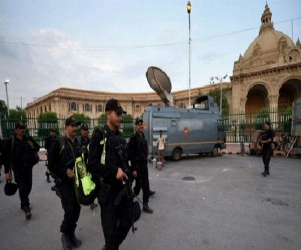 for security of the premises  today mockdrill with various security agencies