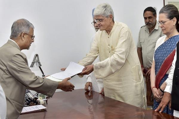 vice presidential election gopalakrishna gandhi filed nomination