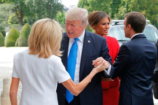 trump comment french first lady brigitte macron