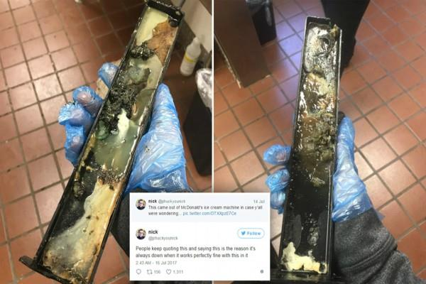 mcdonald employee shares photo of what comes out of filthy mcflurry machine