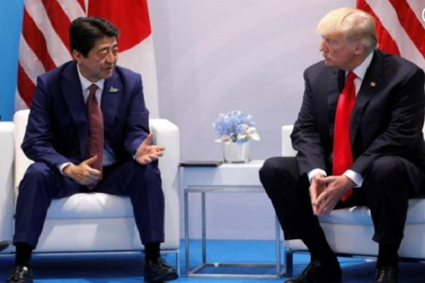 trump  japan abe discuss north korea on sidelines of g20