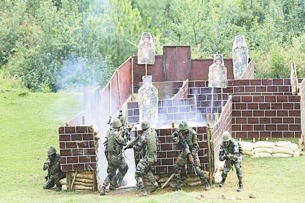 indo thailand maneuvers over army devastated terrorist bunker