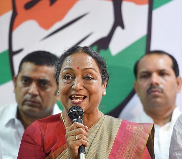 unfortunate to see presidential candidates only with racial specs meera kumar