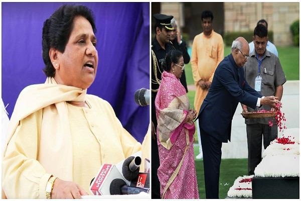 mayawati congratulates kovind well  if i give flowers on the statue of ambedkar