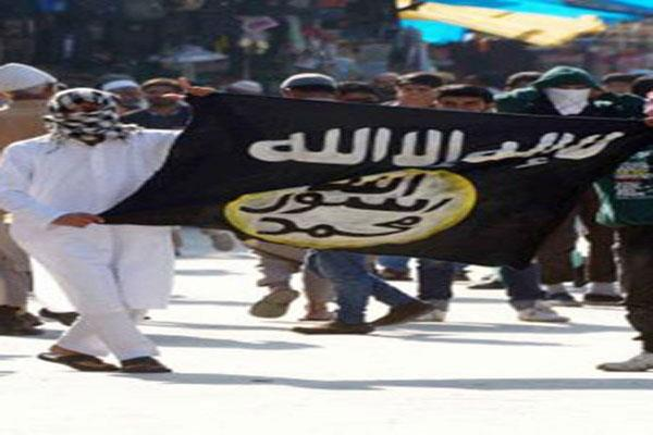 militant  s body warped in is flag found