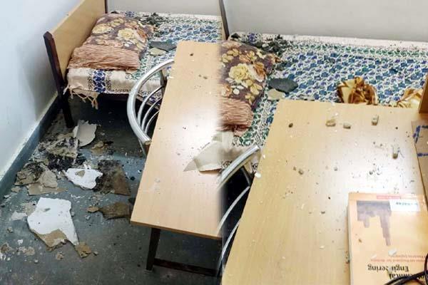 hostel  s roof falling on iit mandi trainee students