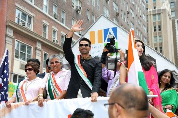 indians celebrate independence day by removing grand parade in new york