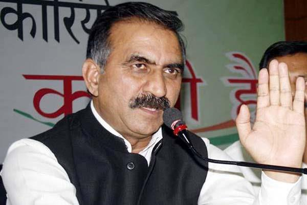 sukhu said himachal is stronghold of congress  sukh ram had not left the party