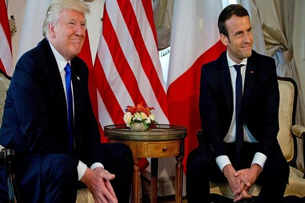 north korea agrees to work with trump and macron on issue