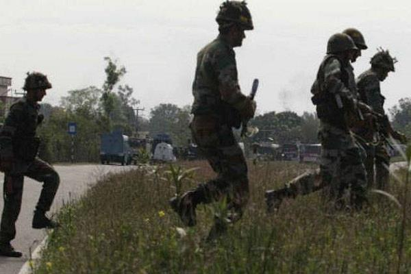 two police personnel injured after terrorists attacked a police party