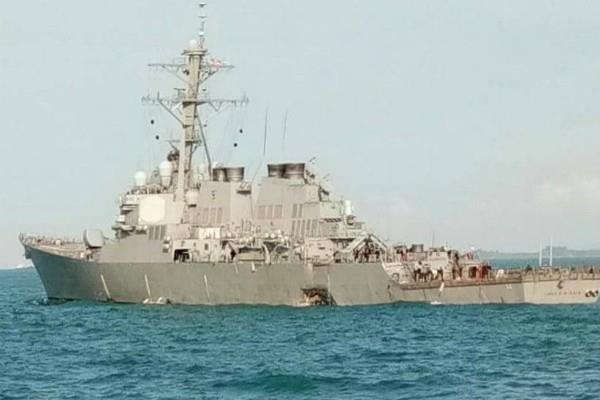 ten us sailors missing uss john s mccain collides with oil tanker singapore
