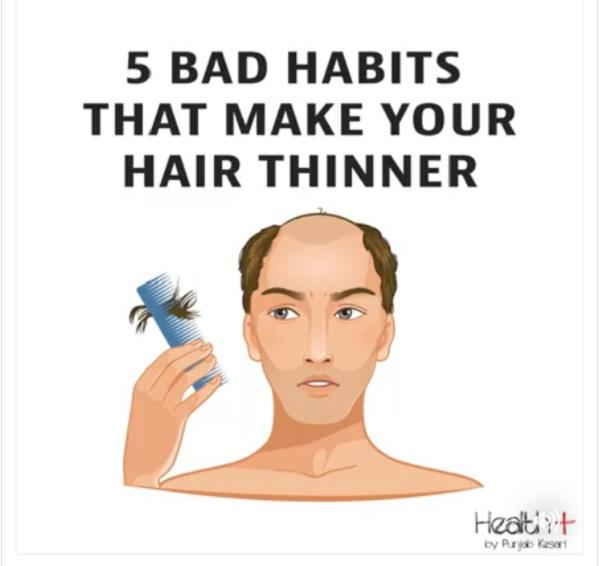 5 bad habits that make your hair thinner