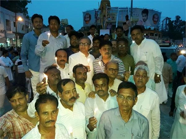 congril march from congress for killing children in gorakhpur