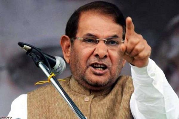 jdu warns rebel leader sharad yadav