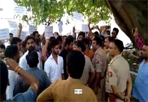 u p police brutality heavy rickshaws on families demanding justice