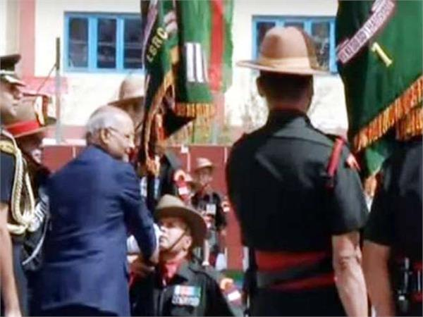 president kovind visited ladakh