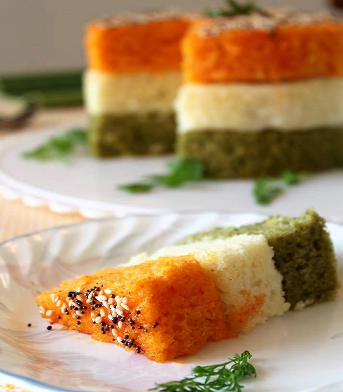 Image result for tricolor dhokla pic,nari