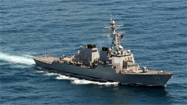 us warship sails past a chinese man made island and beijing isn t pleased