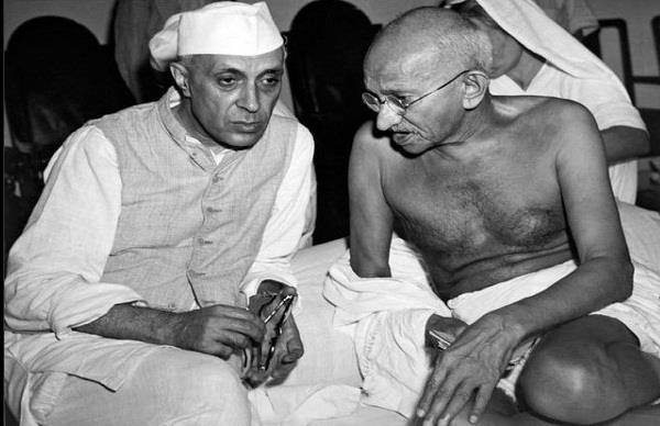 independenceday mahatma ghandi jawahar lal nehru