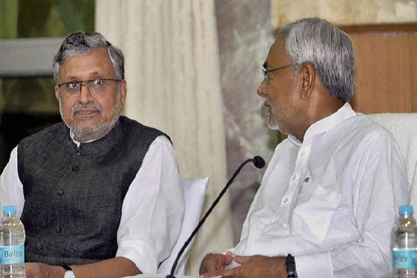 nitish kumar and sushali modi resignation demanded in bihar legislature