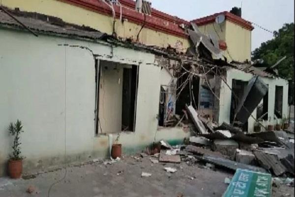 an explosion in an atm at sriganganagar
