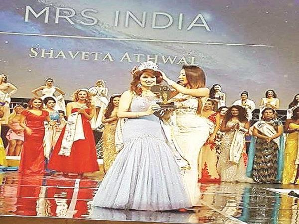 shweta athawal hoisted the tricolor in the misses universe contest