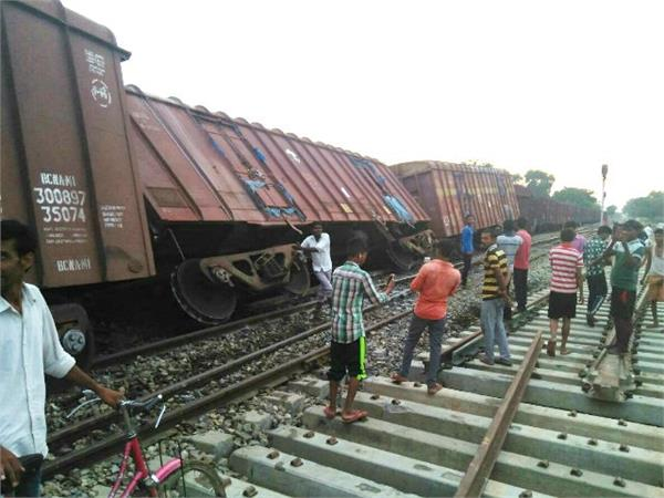 four bogies of the goods train derailed