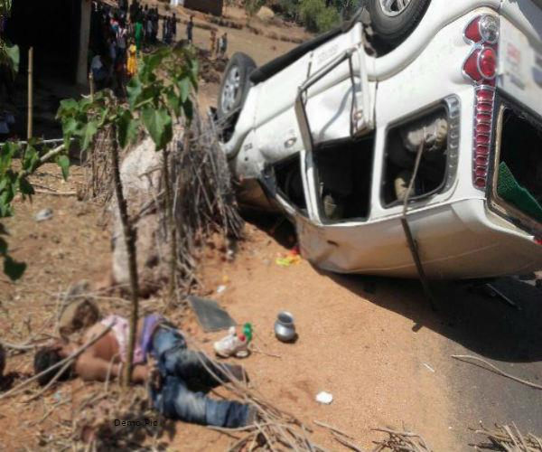death of 3 in a serious road accident