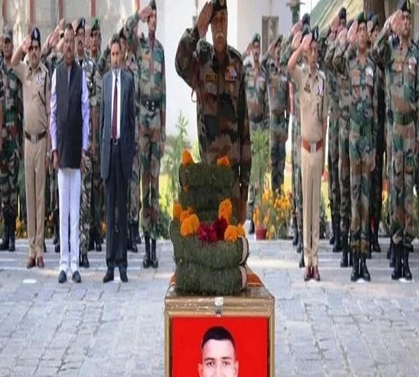 tribute given to martyrs in keran sector