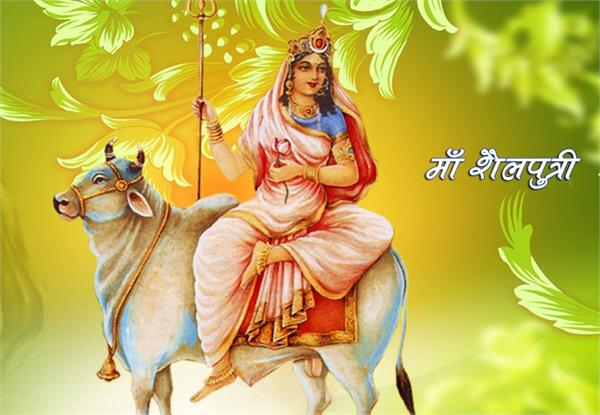 crowd of devotees in the temples for worship of mother shailaputri