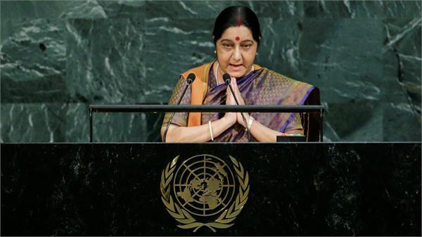 sushma speech is arrogant in un  but terrorism in pak  china