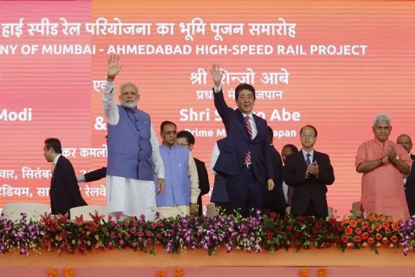 pm modi shinzo abe organized the bullet train project