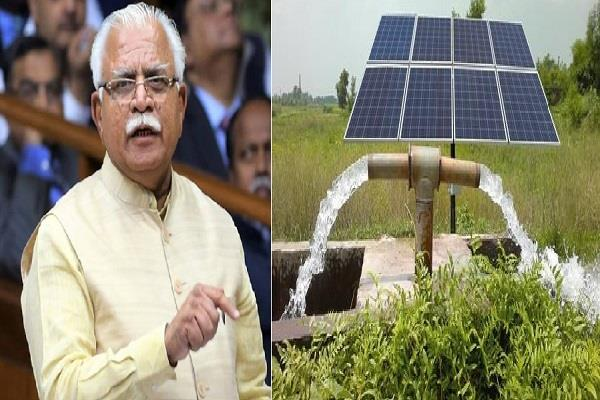 haryana government to install 1 lack solar water pumps